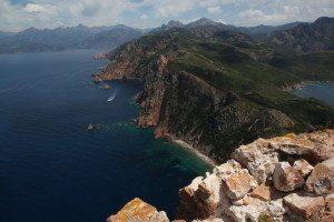 Blick vom Capu Rosso auf die Calanches